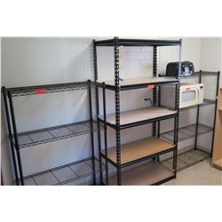 Qty 3 Metal Shelf Units (PRE-2)