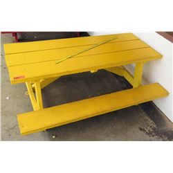 Yellow Toddler Size Picnic Table (PRE-2)