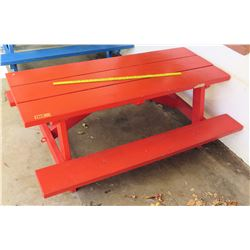 Red Toddler Size Picnic Table (PRE-2)