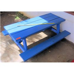 Blue Toddler Size Picnic Table (PRE-2)