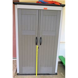 Tall Plastic Outdoor Storage Shed (PRE-2)