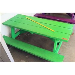 Green Toddler's Size Picnic Table (PRE-2)