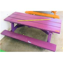 Purple Toddler's. Size  Picnic Table (PRE-2)