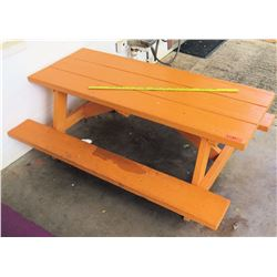 Orange Toddler's Size Picnic Table (PRE-2)