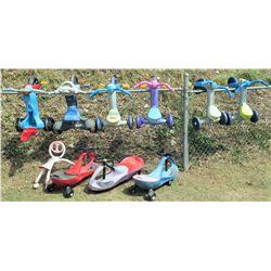 Qty 9 Kid's Trikes & Ride Toys (PRE-2)