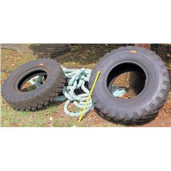 Qty 2 Truck Tires 13.00-24TG (SOFTBALL FLD)