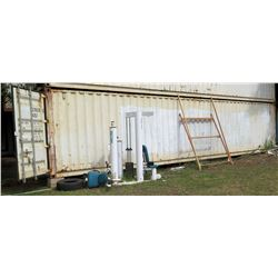 40' Shipping Container & Contents - Lockers, etc (SOFTBALL FLD)