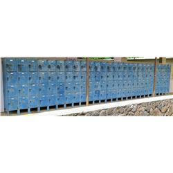 Qty 3 Blue Multi Unit Storage Lockers (NR MARIANNE HALL)