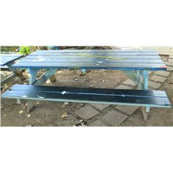 Blue Picnic Table (around KOI POND)