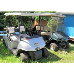 Qty 4 Golf Carts (all broken, missing parts)