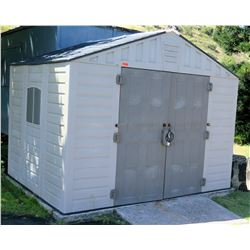 Large Plastic Storage Shed House