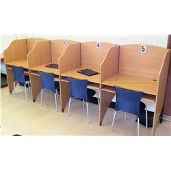 4-Section Cubicle Set w/ Chairs (RM-402)