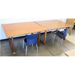 Qty 2 Wood Tables & 2 Chairs (RM-402)