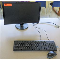 Acer Monitor, Keyboard & Mouse (Rm-402)