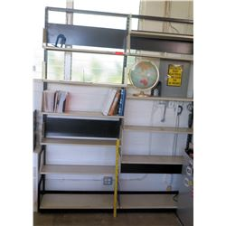 Qty 2 Metal Shelving Wall Units (Rm-402)