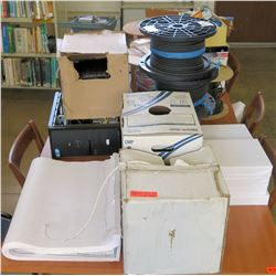 Multiple Misc Paper, Cables, Wire, etc (Rm-402)