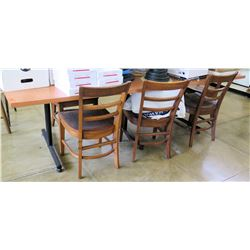 Wood Table & 3 Wood Chairs (Rm-402)