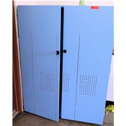 Tall Blue 2 Door Storage Unit (Rm-402)