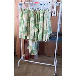 Qty 6 Hula Hawaiian Print Skirts (Rm-402)