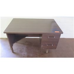 Wooden 2-Drawer Desk (Walkway by Front Ofc)