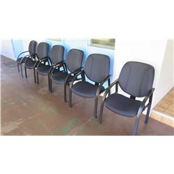Qty 6 Black Chairs (Walkway by Front Ofc)