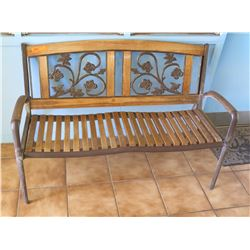 Wood & Metal Bench (Walkway by Front Ofc)