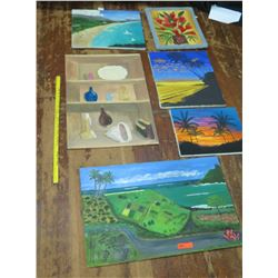 Qty 6 Misc. Original Paintings (RM-Theater)