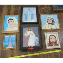 Qty 6 Framed Original Paintings (RM-Theater)