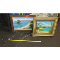 Qty 2 Framed Original Paintings (RM-Theater)