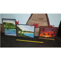 Qty 3 Framed Original Paintings (RM-Theater)