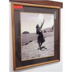 "Framed Photographic Hula Dancer Print 23"" x 27"" (RM-101)"