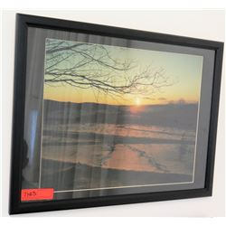 "Framed Photographic Print: Sunset 26"" x 20"" (RM-101)"