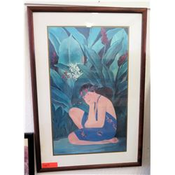 Framed Art: Peggy Hopper Print w/Original Signature (RM-101)