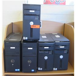 Qty 5 Dell Computers, CPUs, Complete, Windows 10 Trial Installed (RM-402)