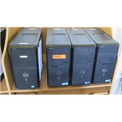 Qty 4 Dell Computers, CPUs, Complete, Windows 10 Trial Installed (RM-402)