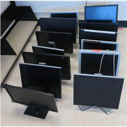 Qty 13 Computer Monitors (RM-402)