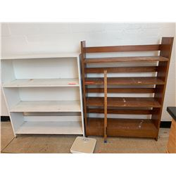 2 Wooden Bookcases & Scale