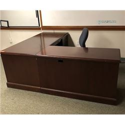 L-Shaped Wooden Desk w/Drawers (RM-607)