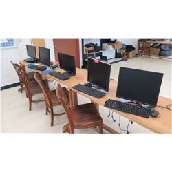 Qty 5 Monitors and Keyboards (RM-402)