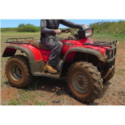Honda Foreman ES ATV 4X4, 29.8 Hours! (Runs, Drives, See Video)