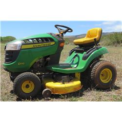 John Deere D110 Ride-On Mower (Starts, Runs & Drives. Needs Repair)