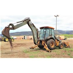 John Deere 410J Backhoe (Runs, Drives, See Video)