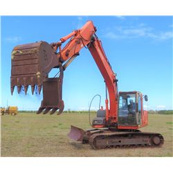 Hitachi Zaxis 120 Excavator (Starts, Runs, Works, Needs Bearing Under Track Replace)