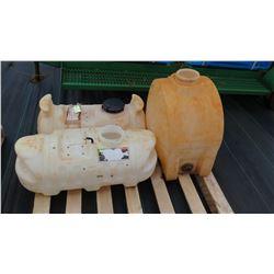 Qty 3 Plastic Tanks