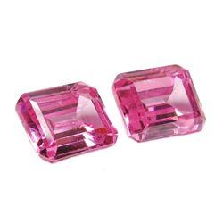 16ctw Octagon Cut Pink BIANCO Diamonds