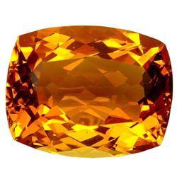 43.3ct. Golden Orange Citrine Cushion