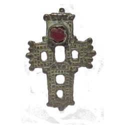 Post Medieval 'reliquary' Cross Pendant Silver-alloy C.12th-17th Century