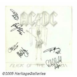 "AC/DC Signed ""Flick of the Switch"" LP Atlantic 80"