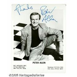 Peter Allen Signed Photograph. In the 1970s, Pete
