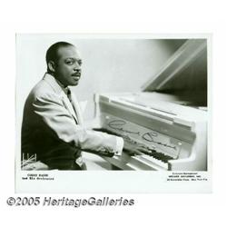 "Count Basie Signed Photograph. A 10"" x 8"" signed"